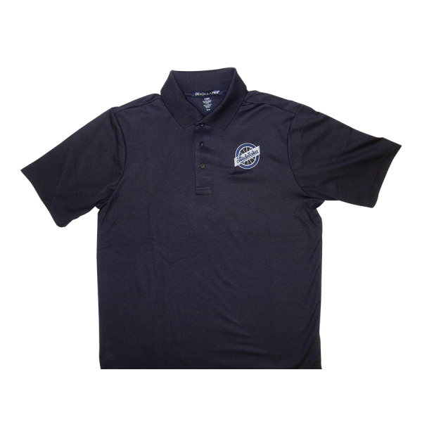 Navy Wheel Logo Polo