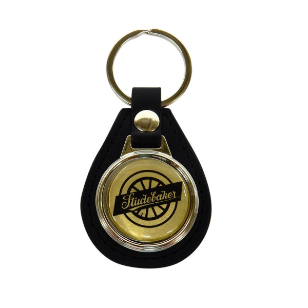 Wheel Logo Leather Keychain