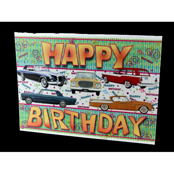 Birthday Hawk/Lark Card