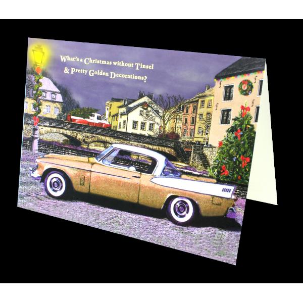 1958 Golden Hawk Christmas Card