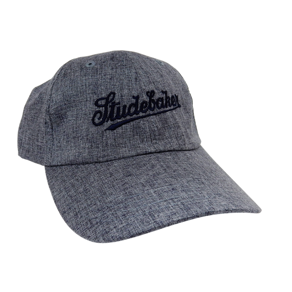 Navy Heather Script Hat