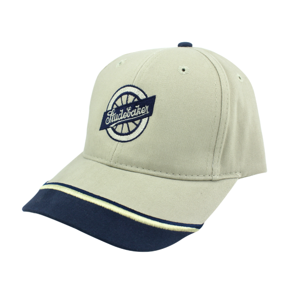 Tan/Blue Wheel Hat