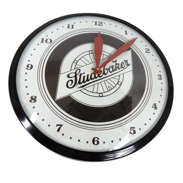 Metal Wheel Logo Clock