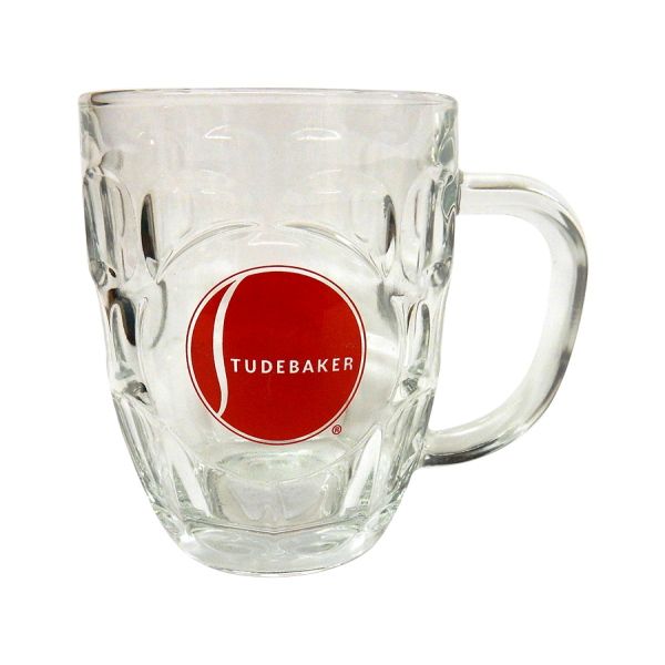 Barrel Mug with Red Ball Logo