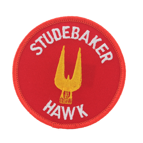 Red Stude Hawk Patch
