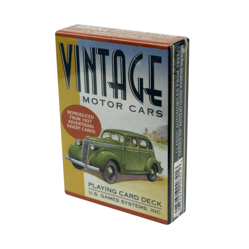 Vintage Cars Playing Cards