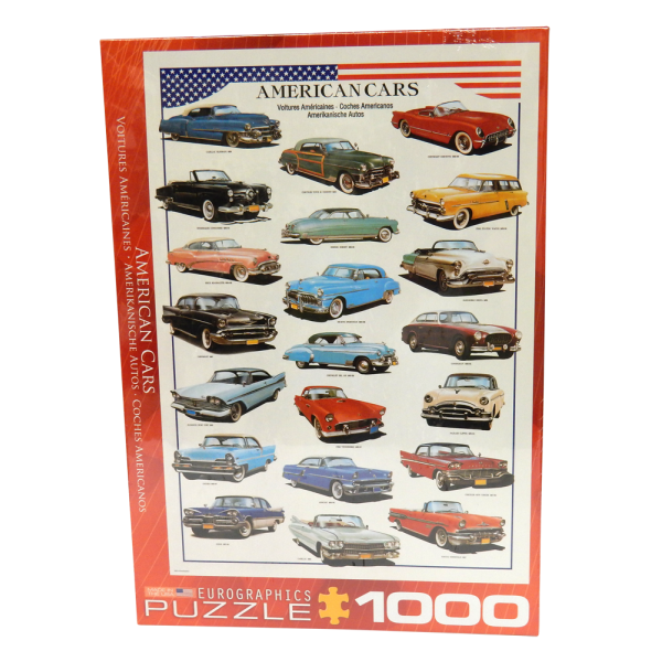 50's American Cars Puzzle